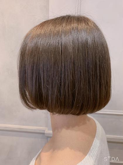 メンテナス!カラー+前髪カット