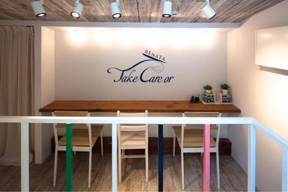 〜3階席〜 カラーやパーマの待ち時間はゆったりとお過ごし出来ます。 TAKE CARE OR RENATA所属・西岡生樹のスタイル