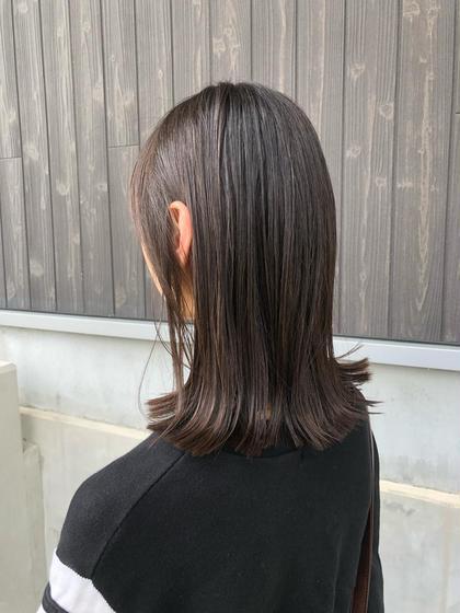 カット+艶髪トリートメントor炭酸スパ