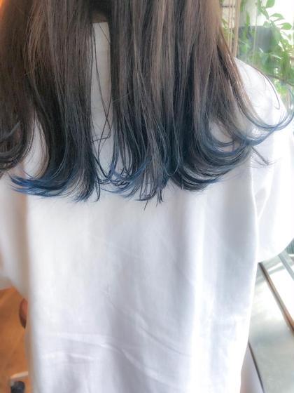 毛先にポイントカラー🧞♂️ 青っていいよね! CouperdeDoux所属・藤原瑛吾のスタイル