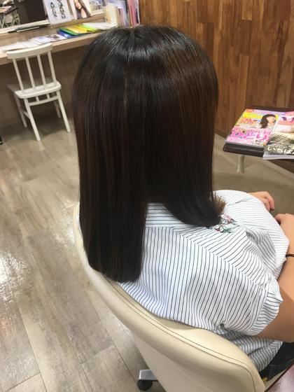 産前準備に毛先をお手入れ💓🤱 福岡正美のセミロングのヘアスタイル