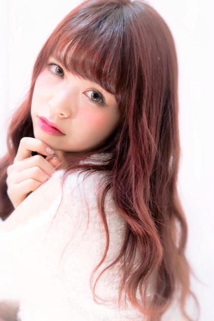 とっても綺麗なベリーピンクで キュートな印象に♪ ✂️⭕️【NaturalControl     Harajuku】⭕️✂️所属・⭐️暗髪推し✈️牛島利之(歴13年)⭐️のスタイル