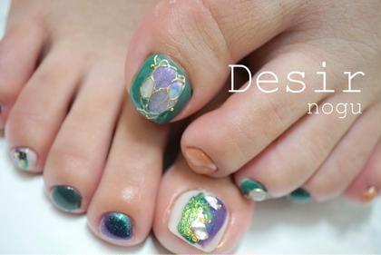フットネイル / アート4本(爪周りのケア込)、他のお爪のお色は何色使ってもOKです!