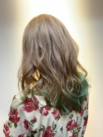 【髪色で個性を出しましょう!】Wカラー✨+トリートメント💕