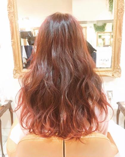秋はやっぱり暖色系 毛先はブリーチして色味がハッキリするように! Of hair所属・喜多菜々子のスタイル