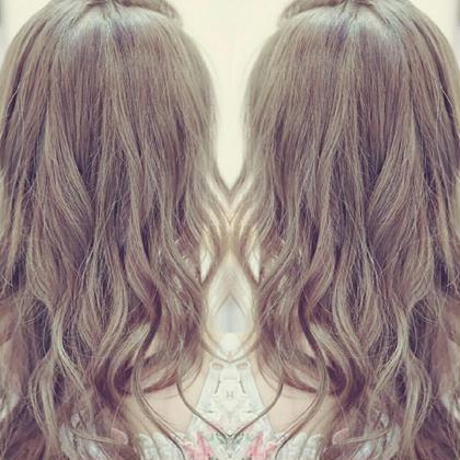 キャラメルブラウン evahair のロングのヘアスタイル
