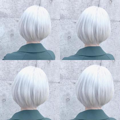 カラー ショート perfect White