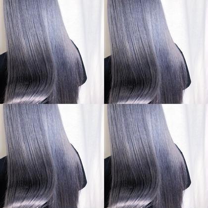 縮毛矯正+カラー+カット