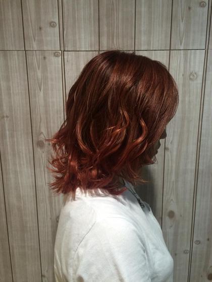 バイオレットピンクで艶のある赤に! 1st@VIBE&ANNEX所属・チーフ 松井敬太郎のスタイル