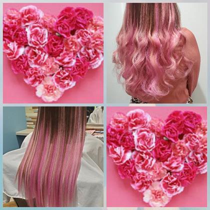 3種類のピンク♥巻くとさらに可愛い!