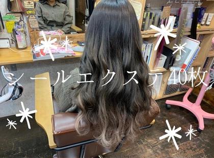 💗人毛100%💗シールエクステ1枚¥250(税込)40枚(ミディアムからロング)⚠️色に限りがあります