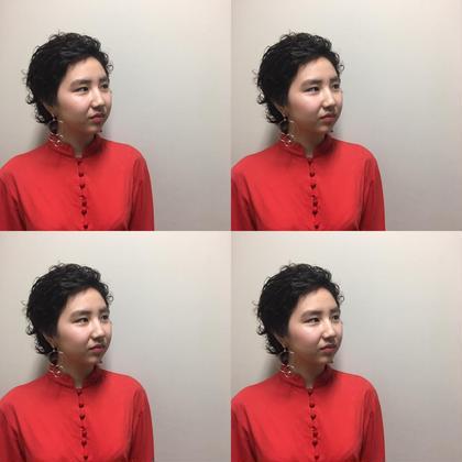 細かいカールパーマ(ベリーショート) aile total beauty salon所属・門田裕也のスタイル