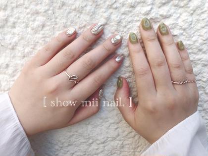 【gel nail】 ハンドデザインコース定額B (大理石.べっ甲.マリメッコ.ニット.うねうね.ニュアンス) ¥5000