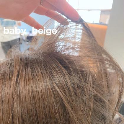 💗デザインcut+ニュアンスcolor+Aujuaトリートメント💗髪の毛がもともと柔らかく見えるようなカラーに💗