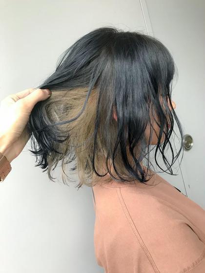 カラー ミディアム ダークグレージュ★ インナーミルクティー★