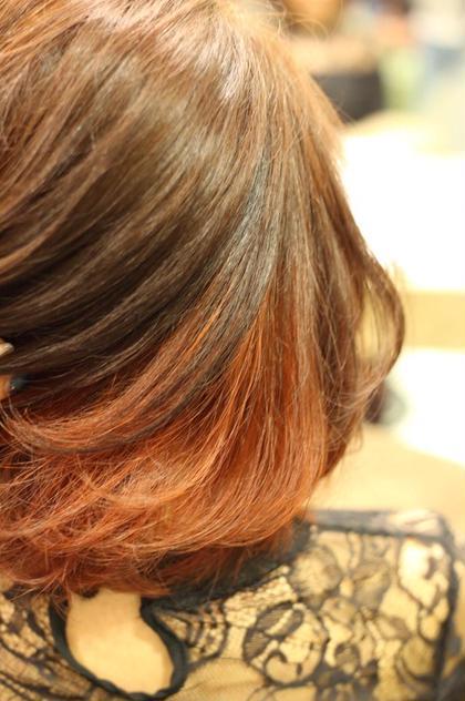 インナーカラー×Red!! Hair&Beauty  theB所属・山田香織のスタイル