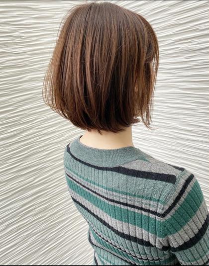 ⭐️ ミディアムボブ⭐️  ウエイト低めの 収まり良しのボブスタイル⭐️  全体的に重めにして、 表面の髪の毛を毛束が出るように 軽めに設定🙋🏻♂️  収まりGOODで楽チンヘアです🙆🏻♂️!