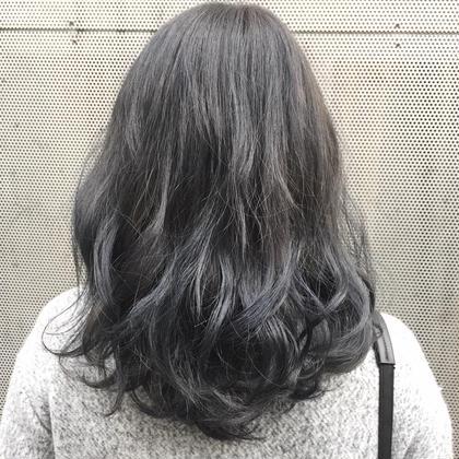 その他 カラー ショート セミロング ミディアム ロング プラチナブルーアッシュ!! ダブルカラー☆