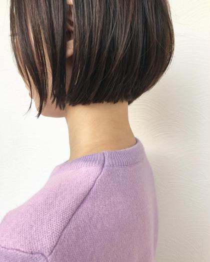 カジュアルなショートボブです☆首元もスッキリで360度どこから見ても可愛い髪型です☆ボブは必ず似合う長さがあります☆ご相談ください☆ SAKURA所属・SAKURAomotesandoのスタイル