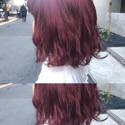 🌈人気No.1🌈高発色ブリーチなしピンクカラー➕選べるトリートメント