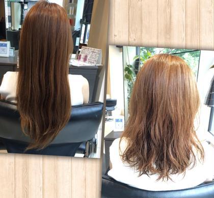 伸びて重くなっていた髪をバッサリ切って 毛先を軽くすることで 残っていたパーマを復活!! 動きのある華やかな印象に✨ 美容室ISA所属・酒本雅子のスタイル