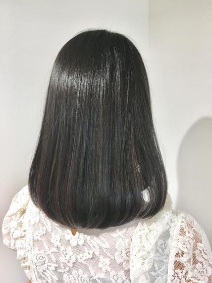 【お手軽プル髪コース】カット+艶カラー+高級オーガニック2工程Tr★ ¥6500