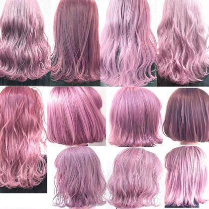 💖大人気のピンクカラー集💖  濃さ、デザイン、ブリーチの回数など ご相談しながら可愛くさせて頂きます⭐