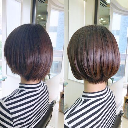 ショート ✨似合わせ保証ショート・ボブカット                           & 🌈カラーリストのカウンセリング付カラー   骨格補正と髪質に合わせたショートボブスタイル。 丸みを出すことで綺麗で可愛いスタイルに✨