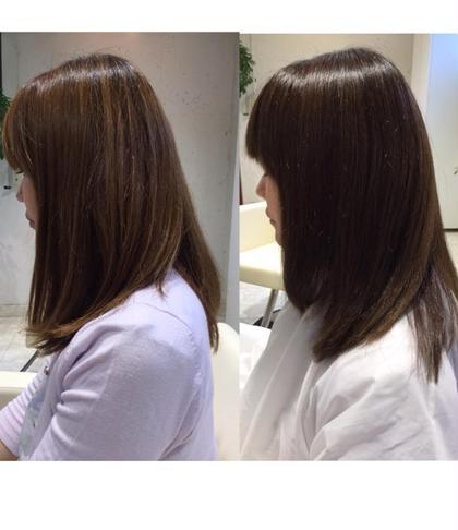 ブロー、ブローローション等使用しておりません。  再現性を重視して、乾かすだけでまとまる扱いやすいスタイルを提案させていただきました。 髪質改善ヘアエステサロン Relacion所属・奈良部潤平のスタイル