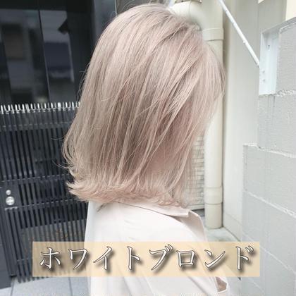 ❣️【ハイトーン女子】ハイブリーチ(ケアブリーチ2回分)➕メンテナンスカット(前髪カットも可)➕うる艶トリートメント