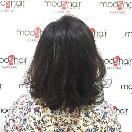 デジタルパーマ×ダークアッシュ×N.ポリッシュオイル mod's hair札幌店所属・伊藤雪菜のスタイル