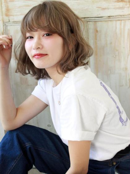 ハネボブ❤️ 亀川祐果のミディアムのヘアスタイル