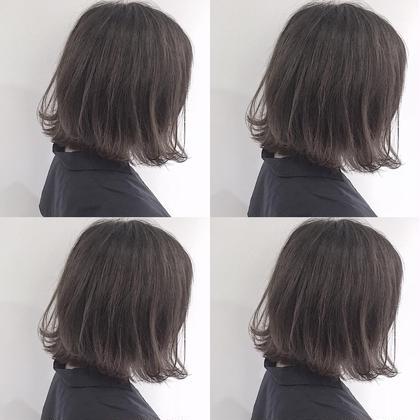 ハイライトグラデーション* 梅田繁和のミディアムのヘアスタイル