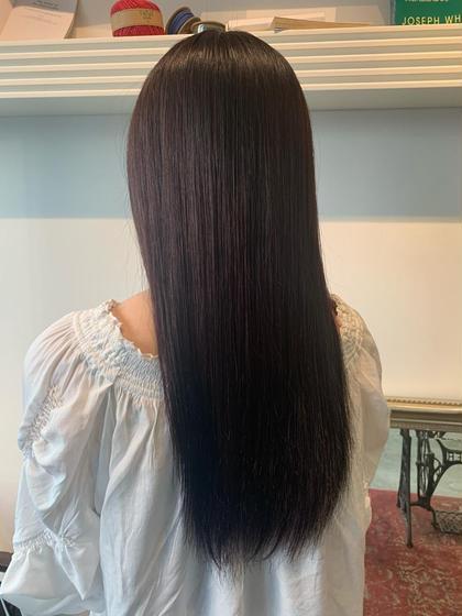 ✨髪質改善✨コスメストレート💗アイロン使わずボリームダウン💗