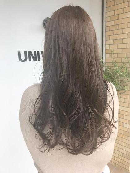 カラー 柔らか艶ロング✨  巻いた髪の毛も透き通るほどの透明感✨  柔らかい質感が叶うNドットカラー❤️