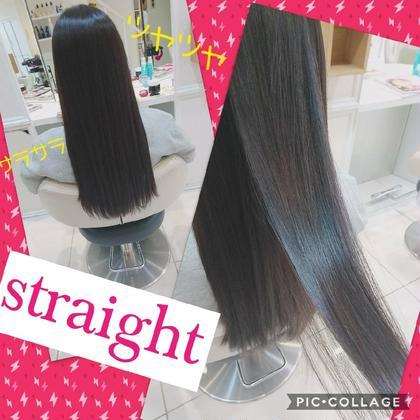 カット+髪質改善酸熱ストレート🥺⭐️ツルツルのサラサラにいたします(*☻-☻*)