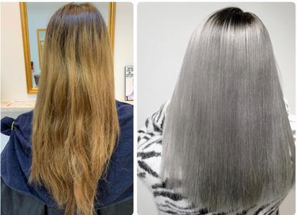 髪の癖毛が気になる方必見❗️ブリーチ毛でも施術可能❗️【最新ハホニコ KERATEX 酸熱トリートメント髪質改善】