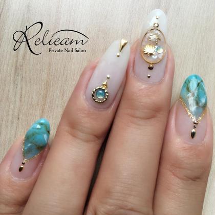 7月のマイネイルです✧‧˚キャンペーンネイルよりアレンジ致しました(^^)♡ Private Nail Salon Relieam-リリアム-所属・RelieamAtsumiのフォト