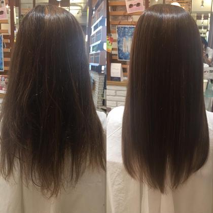 カラーによるダメージ毛もこのとおり♪うるツヤ髪へ✨✨ ヘアメイクパッセージ相模大野店所属・大竹彩のフォト