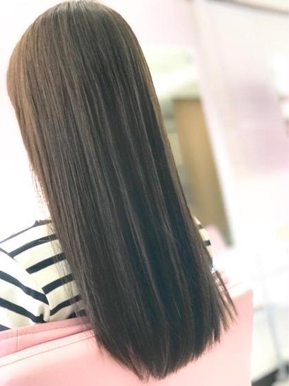 カット + スロウカラー + 縮毛矯正 + トリートメント☆ナノスチーム付き☆