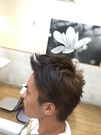 3代目JSBを意識したアップバングショート smile hair所属・河原田佑太のスタイル