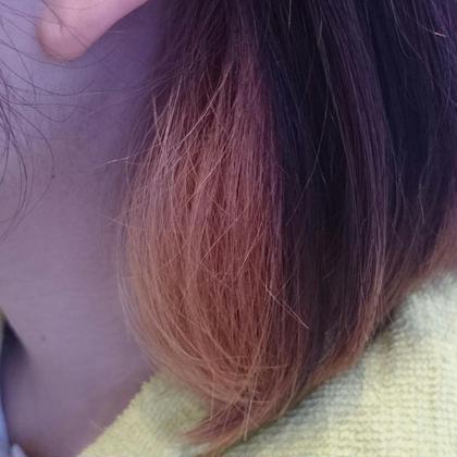 ハーフアップインナーカラー♪チラッとカラーを見せて楽しみましょ❤ OASIS hair mode所属・山岡莉帆のスタイル