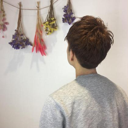 パーマっぽいゆるっとくせ毛さんのツーブロック スタイルです✂︎ NYNY守口店所属・清水理恵のスタイル