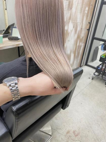 【🌟髪質改善】透明感抜群イルミナorアディクシーカラー+髪質改善カット+TOKIOトリートメント