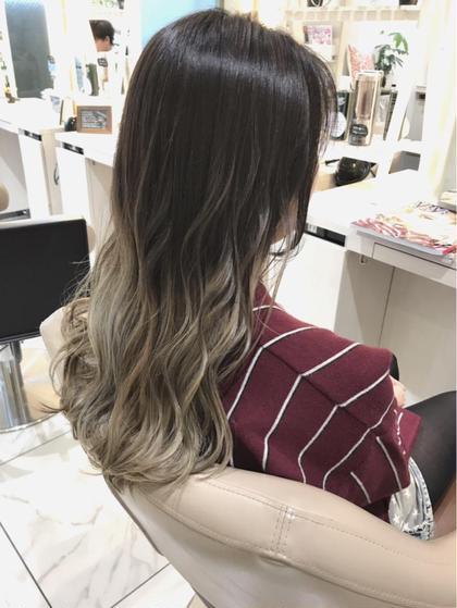 【ブリーチグラデーション✖️髪質改善】ケアブリーチグラデーションカラー+イルミナカラー+カット+髪質改善