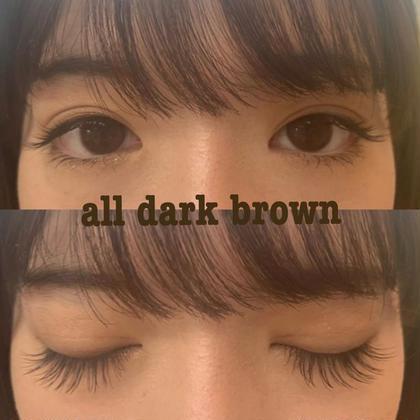 全体dark brownエクステで黒よりもちょっぴり優しいお目元に!! mine吉祥寺店所属・綾莉のフォト