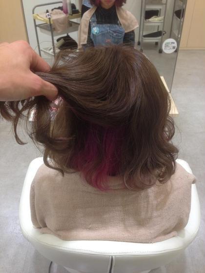 インナーカラーはこんな感じに! agu hair living所属・近藤充のスタイル