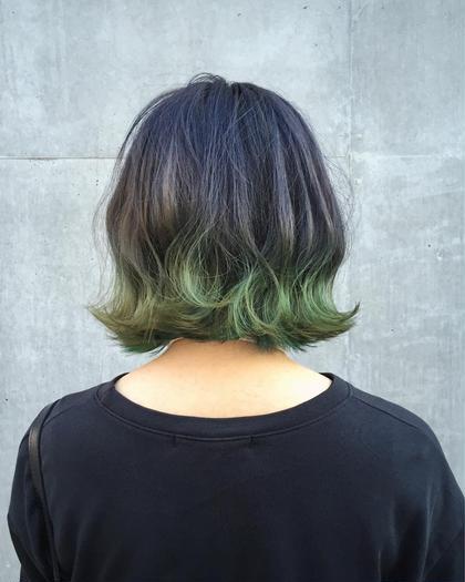 カラー ミディアム ライトグリーングラデーションカラー