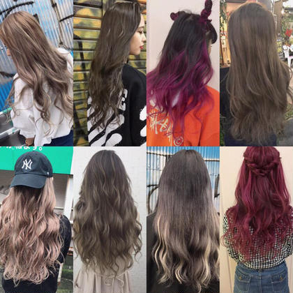 【長さ】各長さ 外国人風のヘアースタイルも大人気❤️ アッシュ系やハイライトも入れられるのでオススメです⭐️