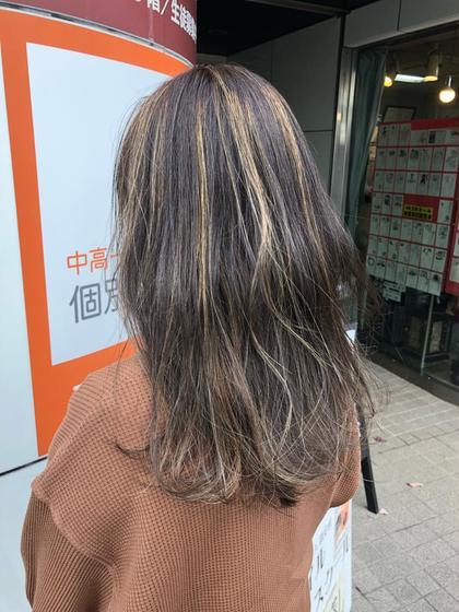 5月限定似合わせカット+外国人風カラー+ハイライト(入れ放題)+トリートメント